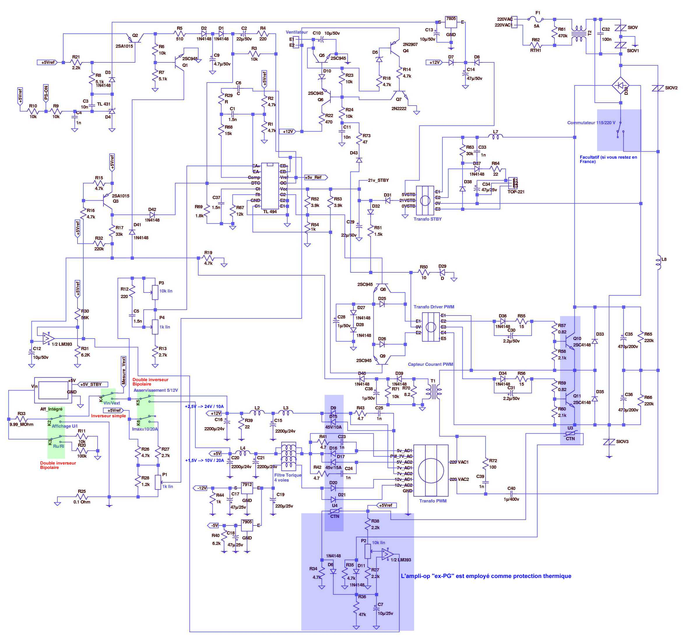 Modif schema alim ATX200W